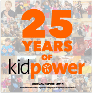 25 Years of Kidpower - 2014 Annual Report Cover Image