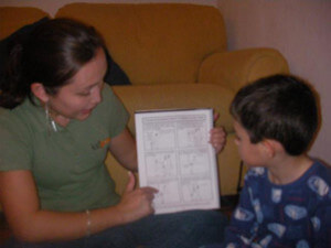 Zaida Torres reading a Kidpower Safety Comic