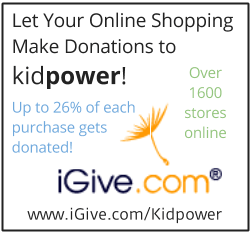 When you shop via iGive - at more than 1600 stores - iGive donates to Kidpower!