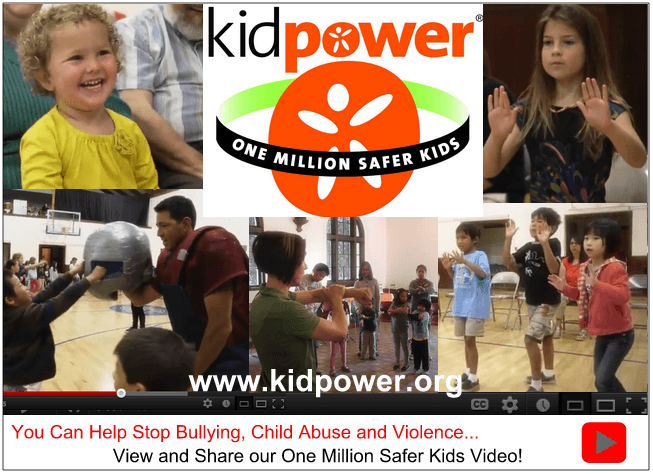 Please take a few minutes to watch our video and share with others to further our goal of bringing Kidpower skills and knowledge to everyone, everywhere! Help us protect kids from bullying, violence, and abuse!