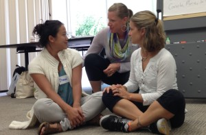 Institute participants practicing how to intervene powerfully and respectfully when young people are acting unsafely.