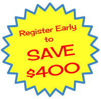 Early Birds Save $400 -- First 10 Registrations in February!