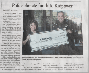 Watsonville PD Donates Funds - Article Newsclipping