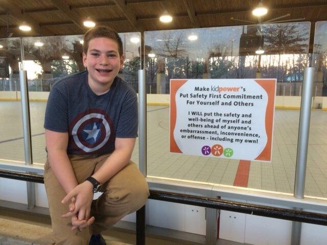 Max at skating rink