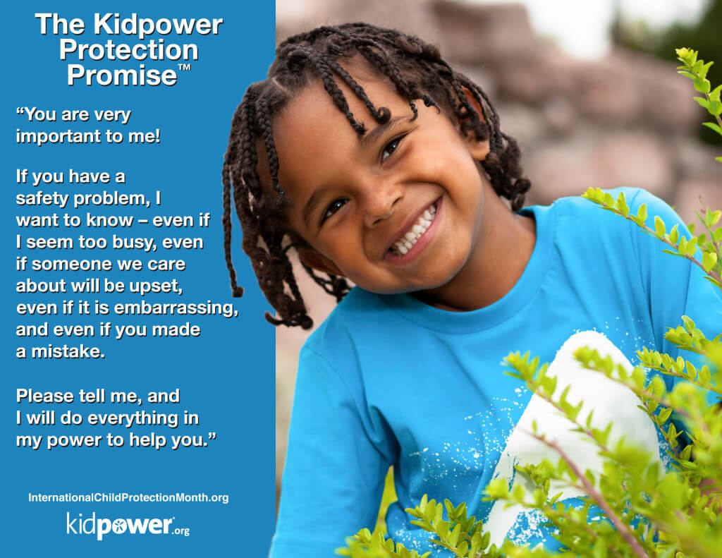 Kidpower Protection Promise Poster - International Child Protection Month