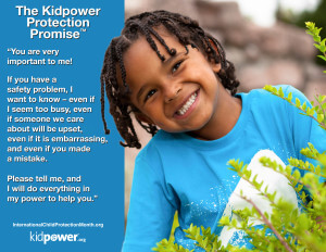 Kidpower Protection Promise Poster - Web Graphic