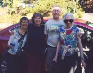 Team Lily! Using HeartPower and Persistence to get Lily home again. (From left: Judy, Irene, Ken, and Lily).
