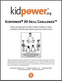 Kidpower 30-Skill Challenge Coaching eHandbook Cover Image