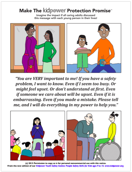 Kidpower Protection Promise Poster - Youth Safety Comics