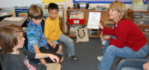 Using the Kidpower Teaching Books in Lessons (Image in Classroom)