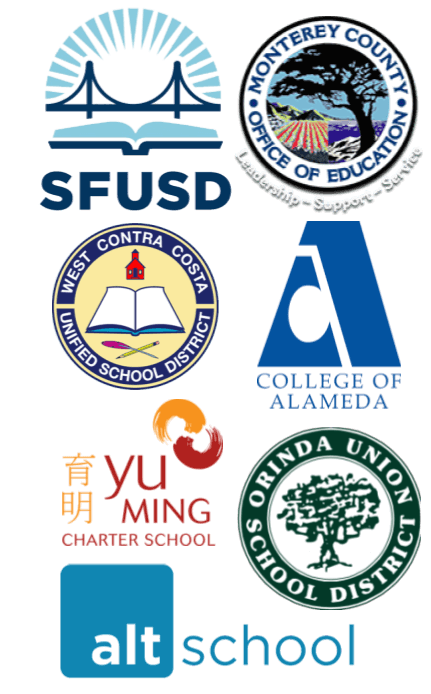 Some of the many California Schools and Districts using Kidpower programs