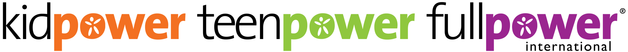 Official Kidpower Teenpower Fullpower International Color Logo