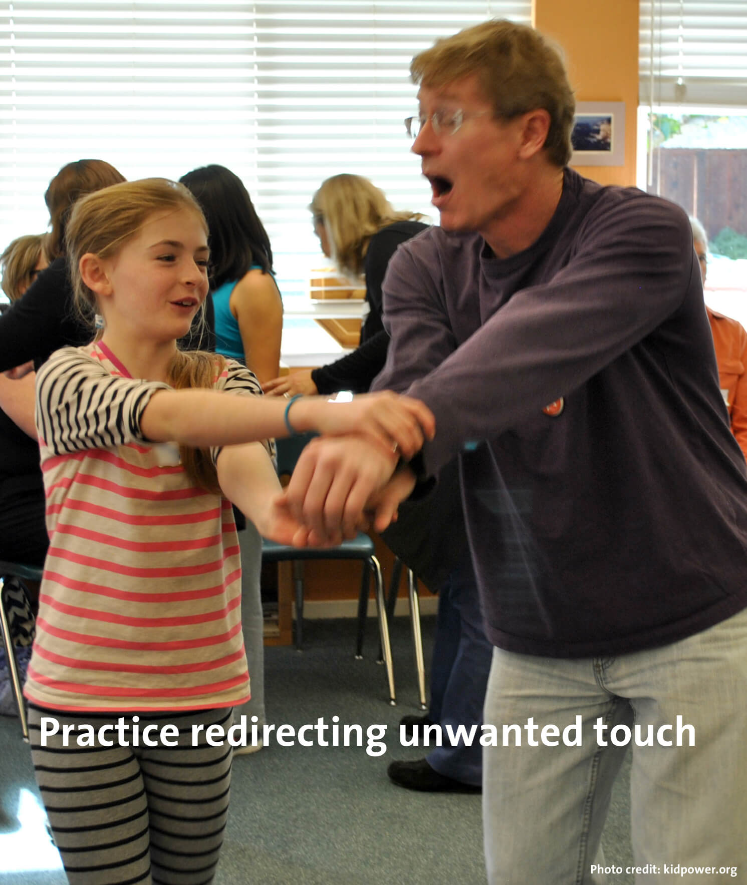 Practice Redirecting Unwanted Touch
