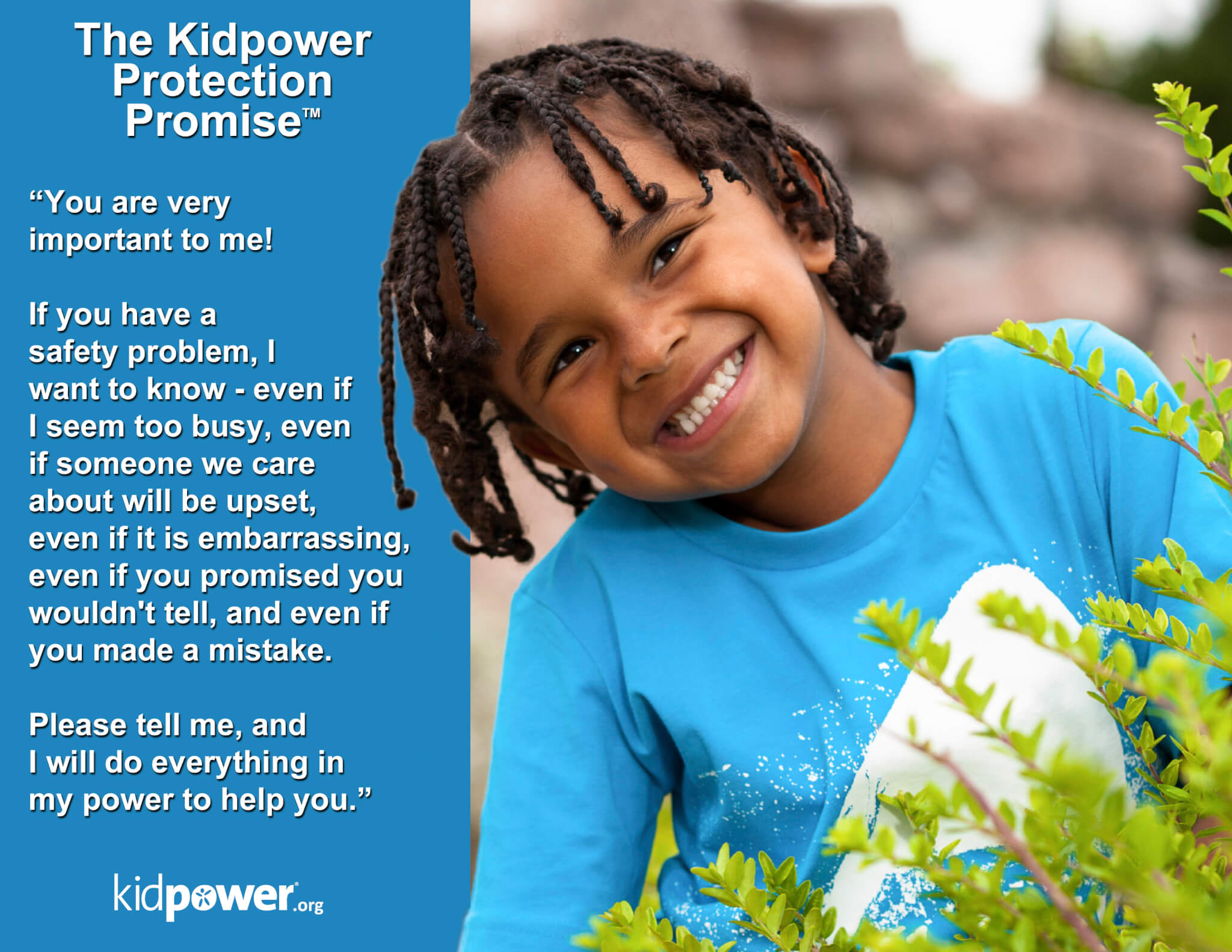 Kidpower Protection Promise Poster