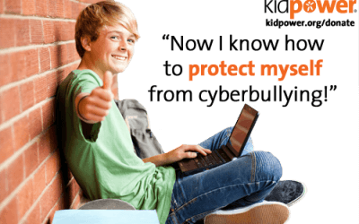 """Now I know how to protect myself from cyberbullying!"" Please donate to Kidpower for Bullying Prevention Month"