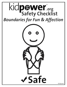 Kidpower Consent & Boundaries Checklist - 4 Posters | Kidpower Safety Signals