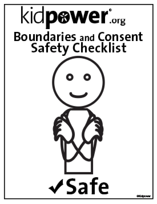 Kidpower Consent & Boundaries Checklist - 18x24 English | Kidpower Safety Signals