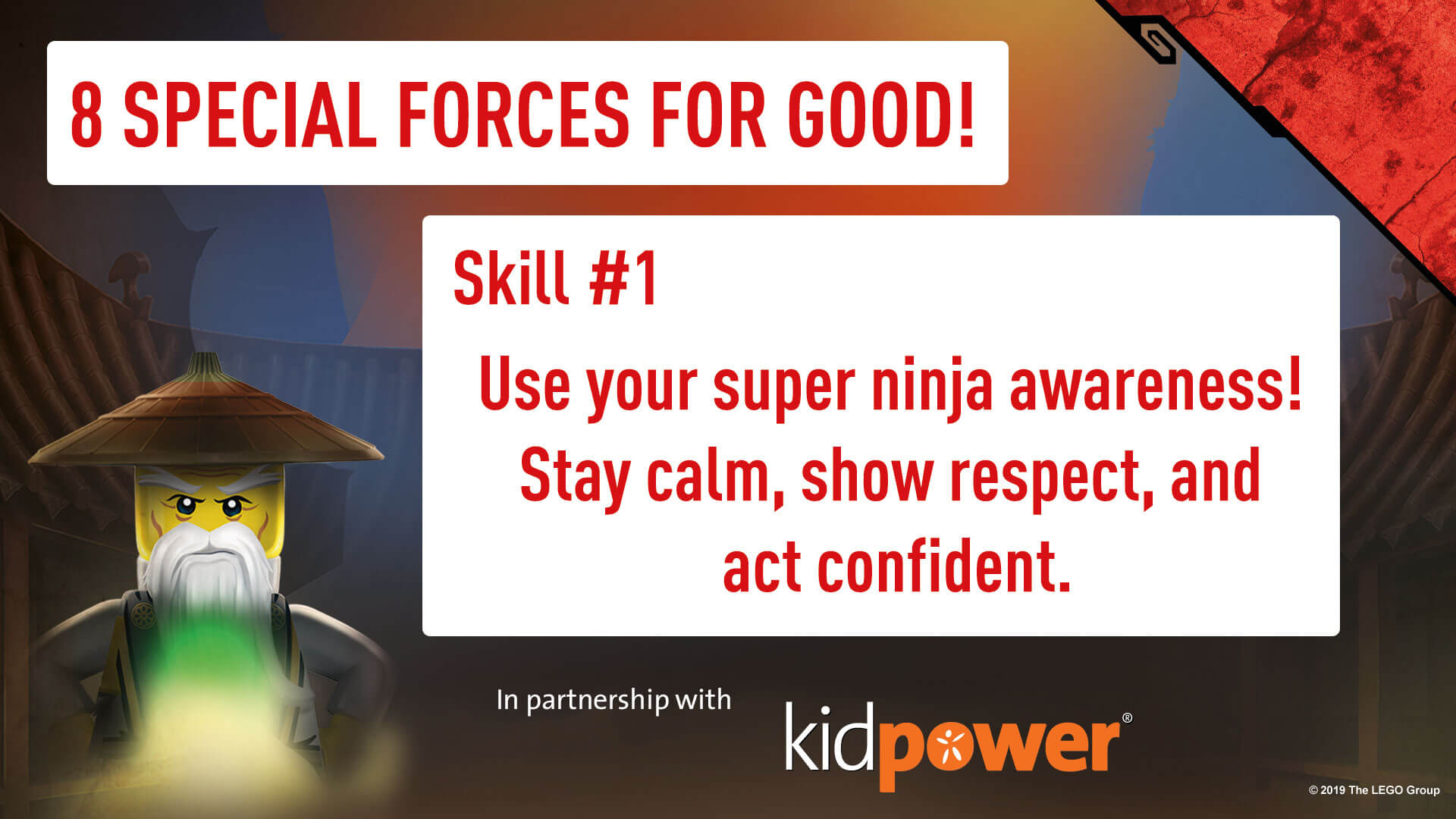 Special Forces For Good - Skill #1 - NINJAGO & KIDPOWER