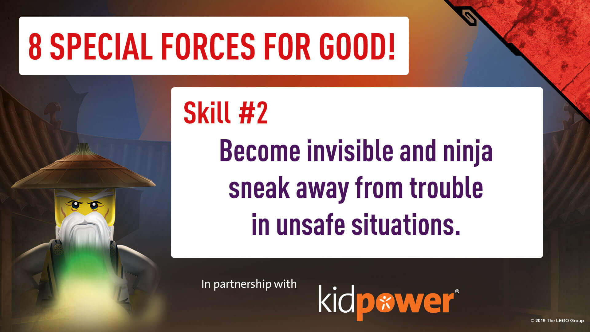 Special Forces For Good - Skill #2 - NINJAGO & KIDPOWER