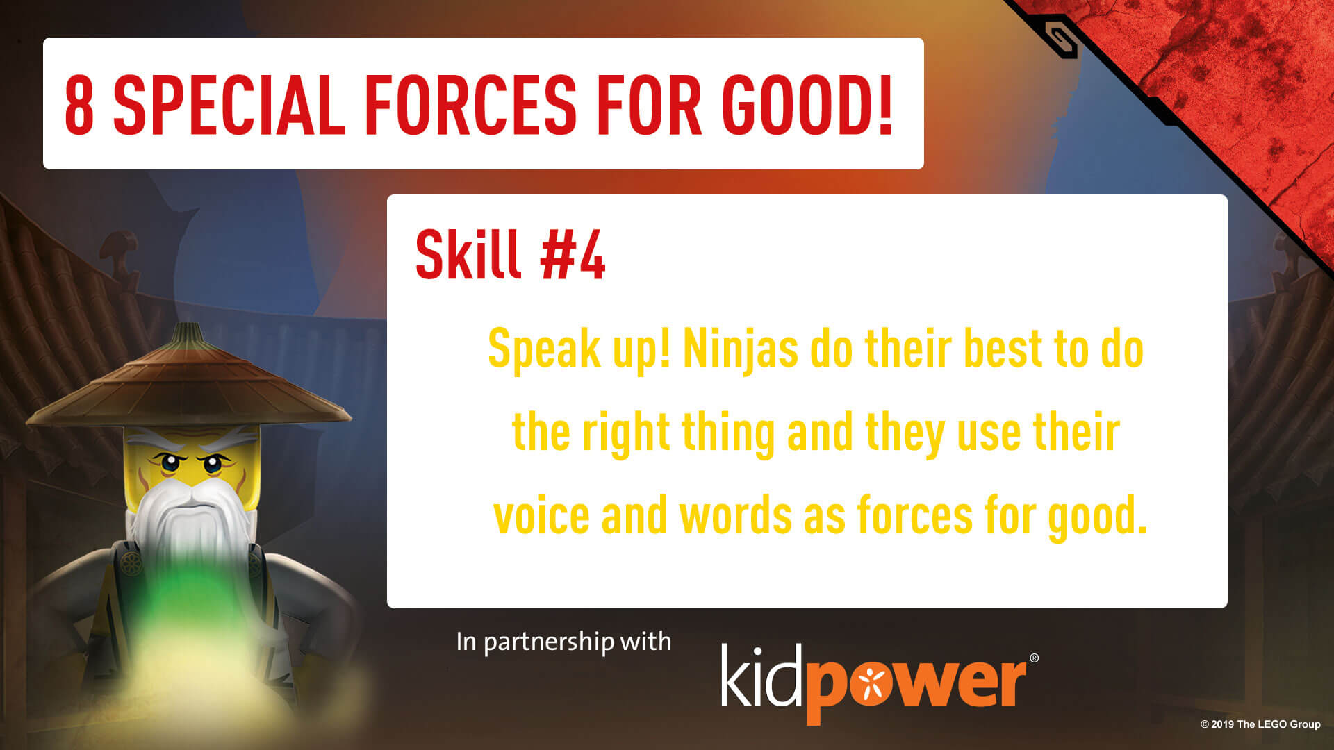Special Forces For Good - Skill #4 - NINJAGO & KIDPOWER
