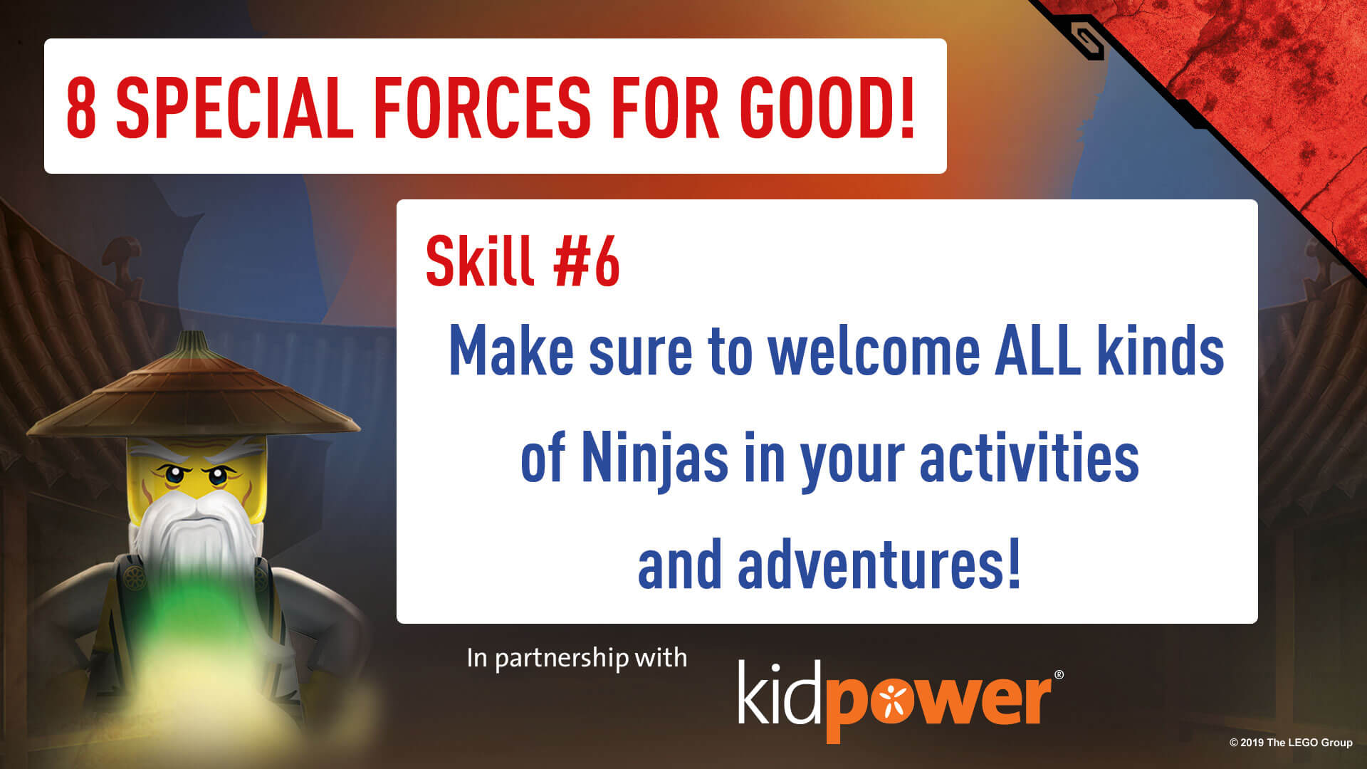 Special Forces For Good - Skill #6 - NINJAGO & KIDPOWER