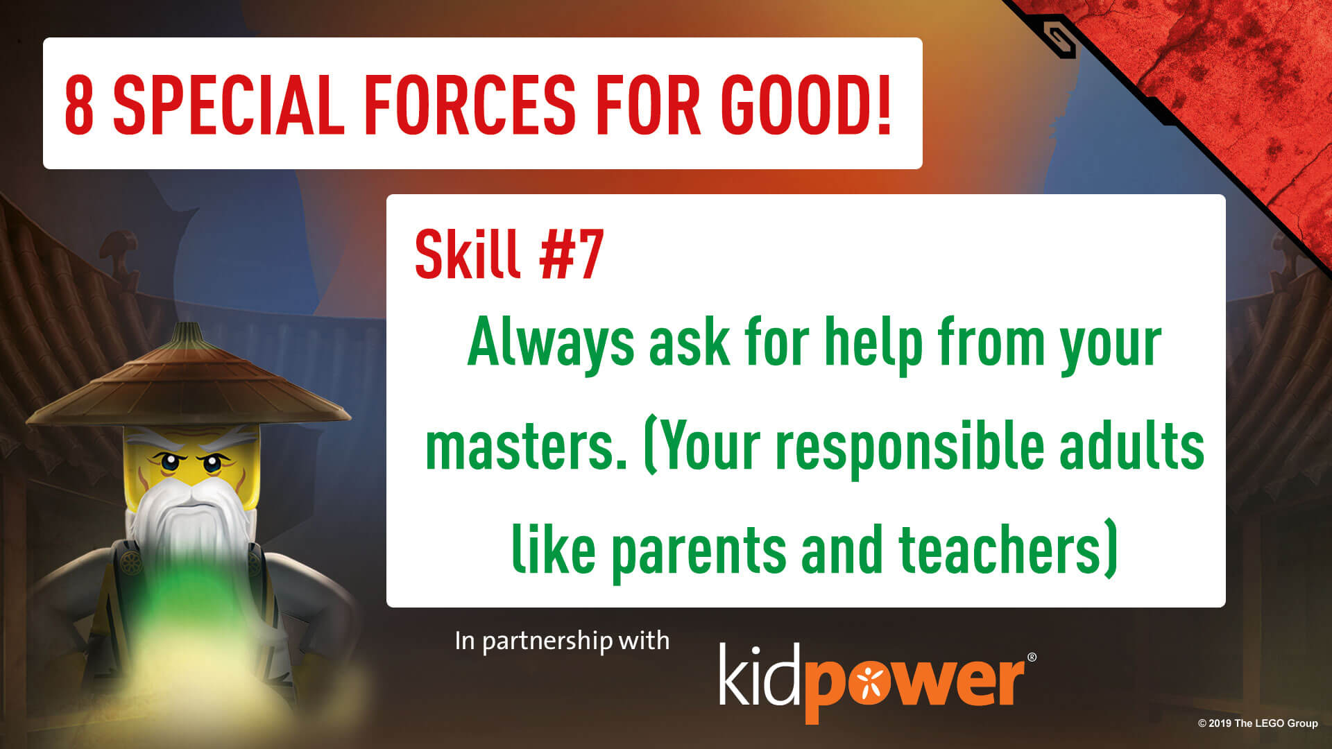 Special Forces For Good - Skill #7 - NINJAGO & KIDPOWER