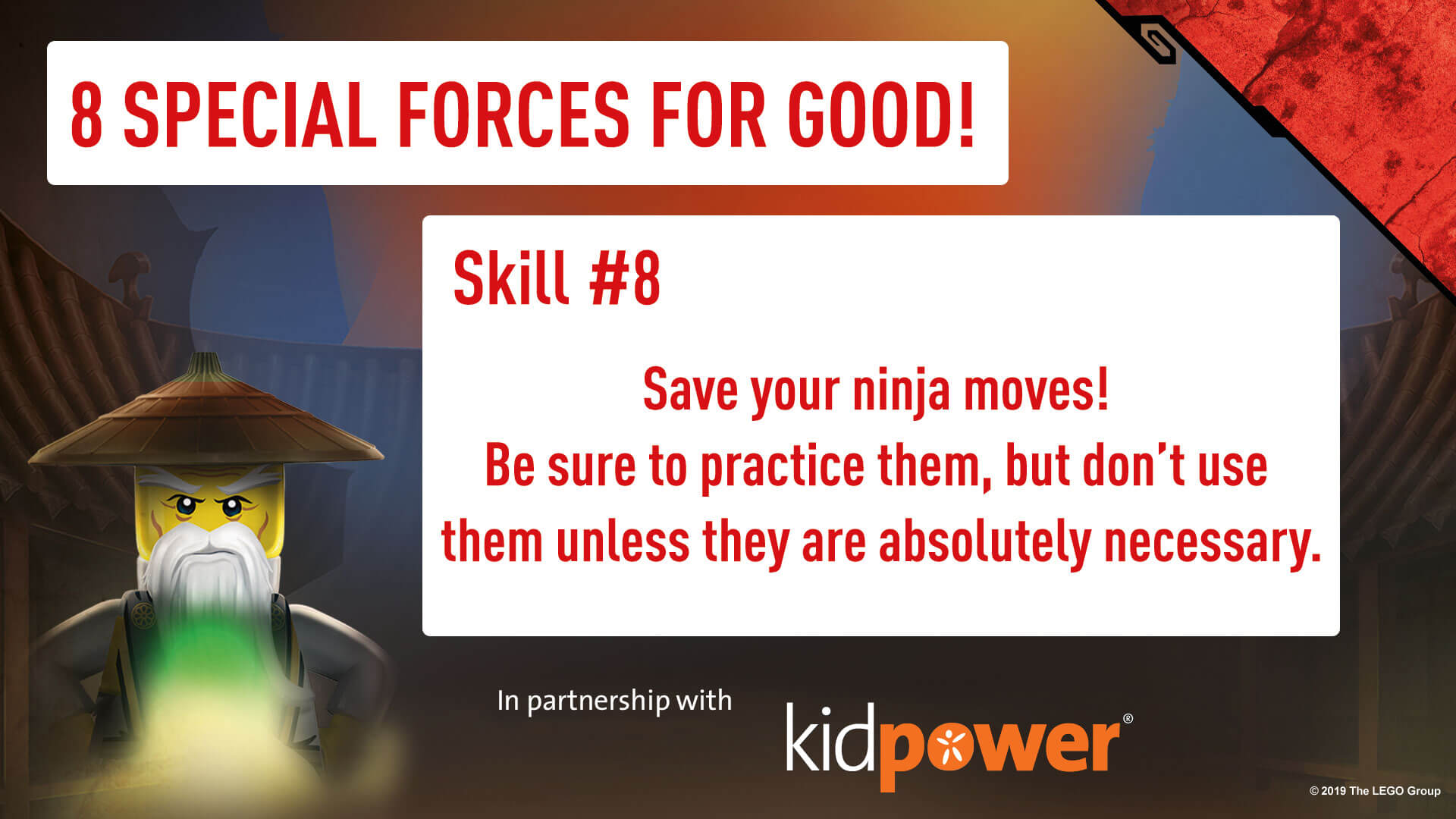 Special Forces For Good - Skill #8 - NINJAGO & KIDPOWER