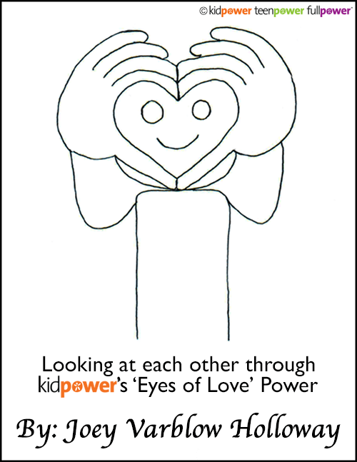 Eyes of Love Safety Signal drawing by Joey Varblow Holloway