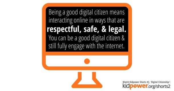 computer graphic with digital citizenship quote